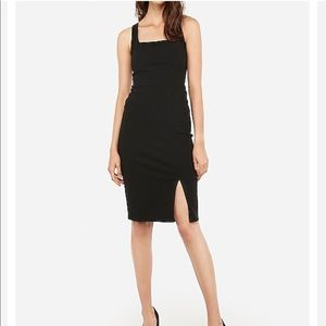 Express Square Neck Bodycon Dress